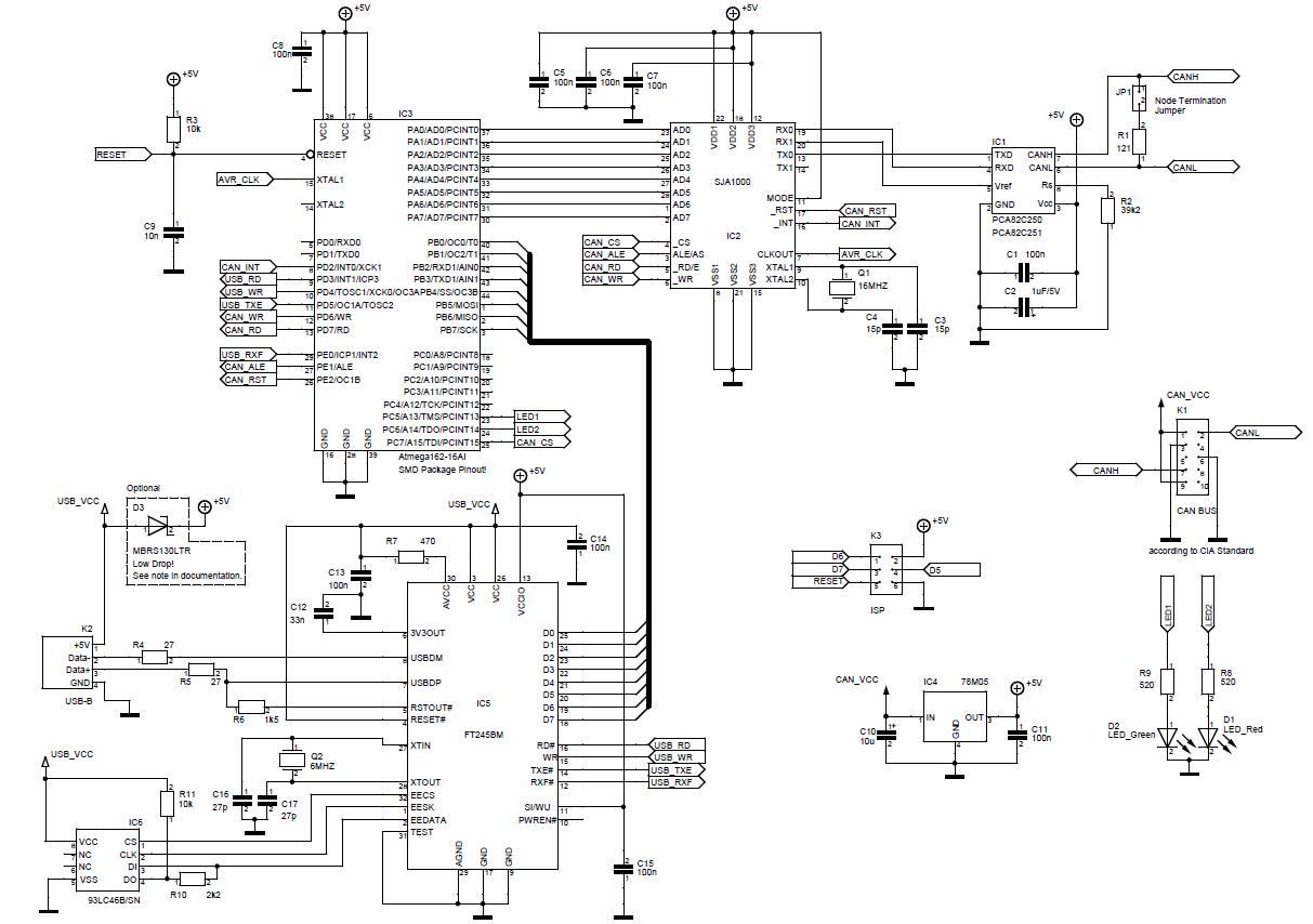 Схема can-usb адаптера